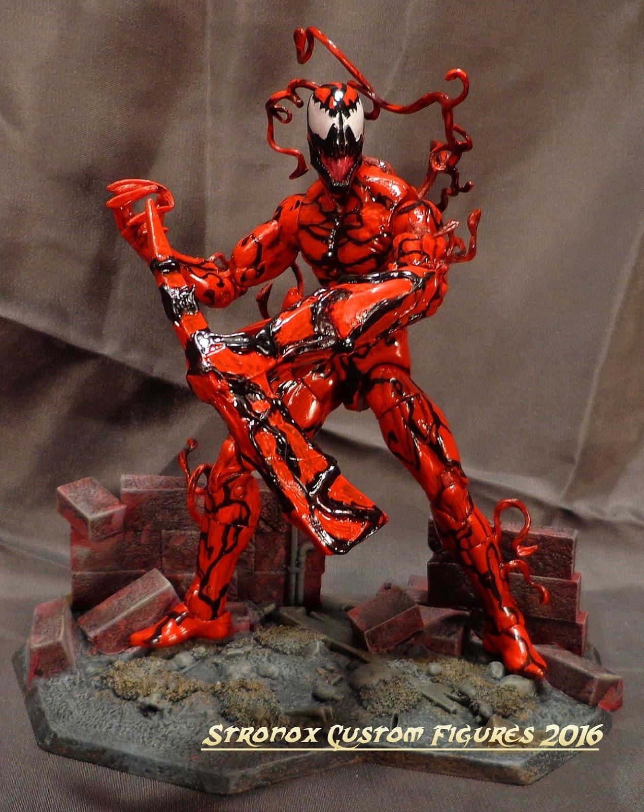 stronox custom figures marvel legends carnage