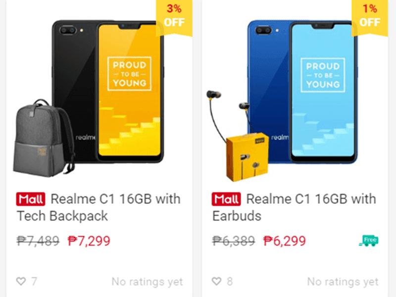 Realme C1 bundles