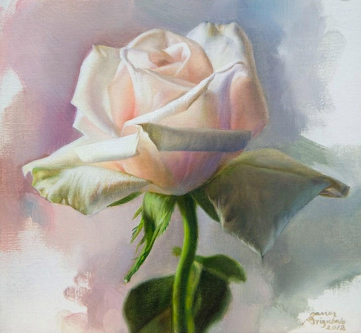 Arte Pinturas Óleo: Flores