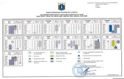 Kalender Pendidikan 2019/2020 DKI Jakarta