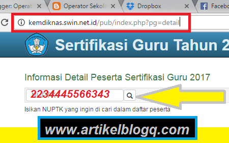 gambar website Kemdiknas.swin.net.id cek peserta sergur