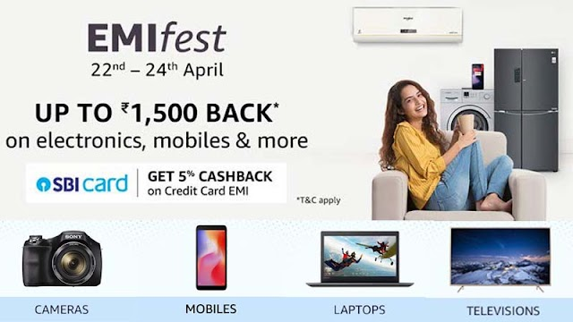 Amazon EMI Fest: Big Discount, TV and Electronic Device Cashback up to Rs 1500