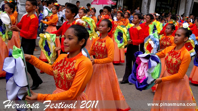 Zamboanga City's Hermosa Festival 2011 street dancers wearing latin inspired costumes