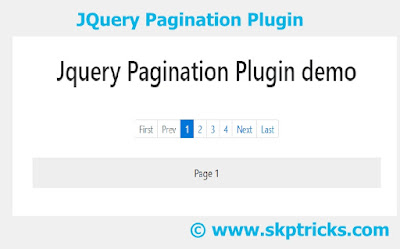 Skptricks — jQuery Pagination plugin