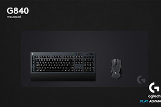 Logitech, Wireless Gaming Mouse, wireless Keyboard, G603 mouse, G840 Mousepad. G613 keyboard
