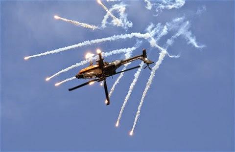 flares aereos proteção helicoptero