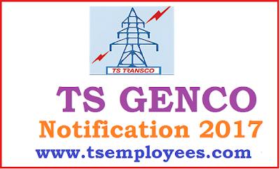 TS Genco Notification 2017 Online Application for AE AEE Jr Lineman Jobs @ tsGenco.telangana.gov.in