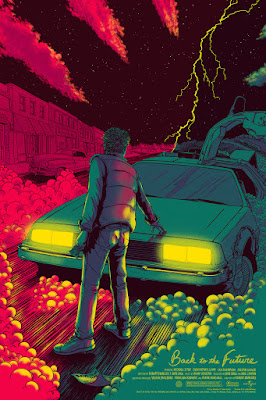 Back to the Future Variant Screen Print by James Flames & Mondo