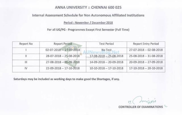 au-academic-internal-schedule-2018