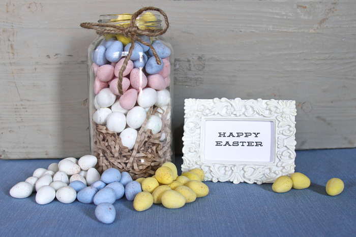 Stage your rustic Easter setup as a surprise after the Easter egg hunt. | brewedtogether.com
