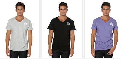 Camisetas de manga corta y cuello de pico