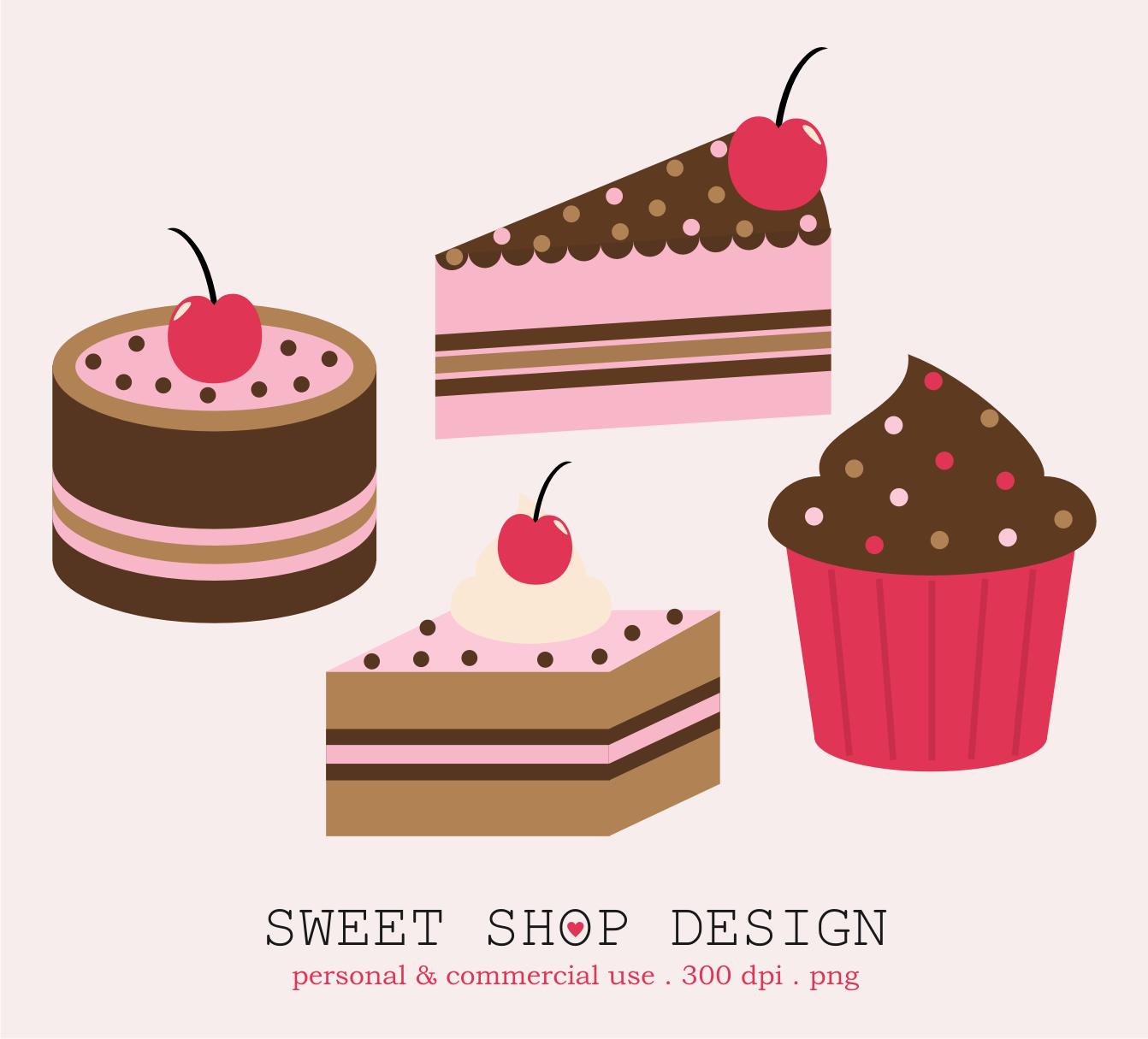 Sweet Shop Design: Cakes Clip Art Freebies