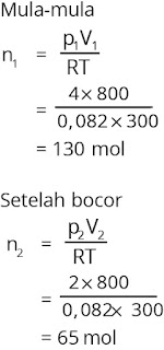 Jawaban soal fisika bab gas ideal nomor 3