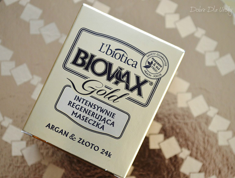 L'biotica Biovax Glamour Gold Intensywnie Regenerująca Maseczka do włosów Argan & Złoto 24k