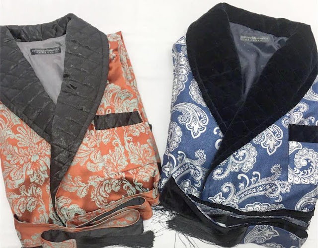 mens paisley silk dressing gown thick heavy warm quilted extra long robes for men