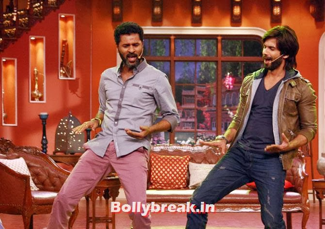 Prabhu Dheva and Shahid, Shahid, Sonakshi promote R Rajkumar on Comedy Nights with Kapil