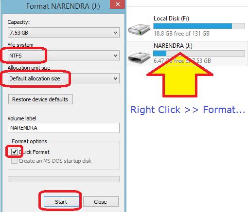 change ntfs file systm speedup usb speed NKWorld4U