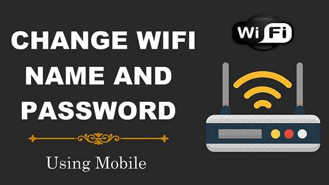 Can you change wifi password through phone