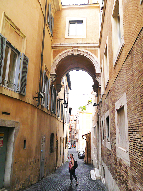 Walking through the cobblestoned streets and hidden arches of Rome