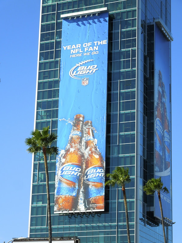 Bud Light NFL beer billboard