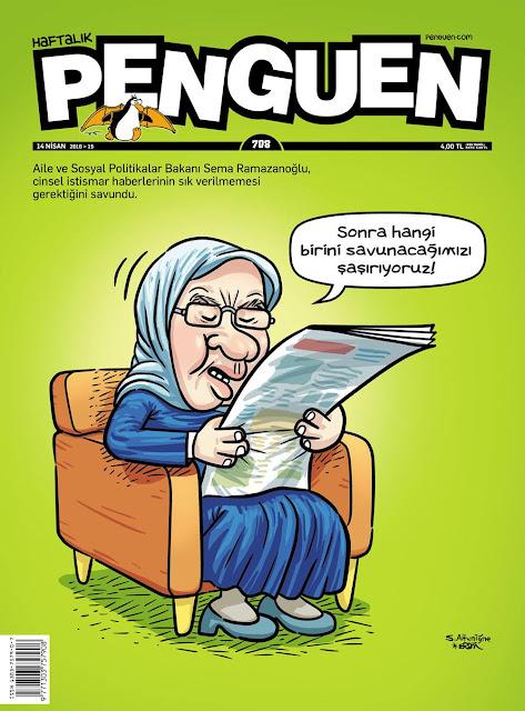 Penguen Sema Ramazanoğlu Karikatürü