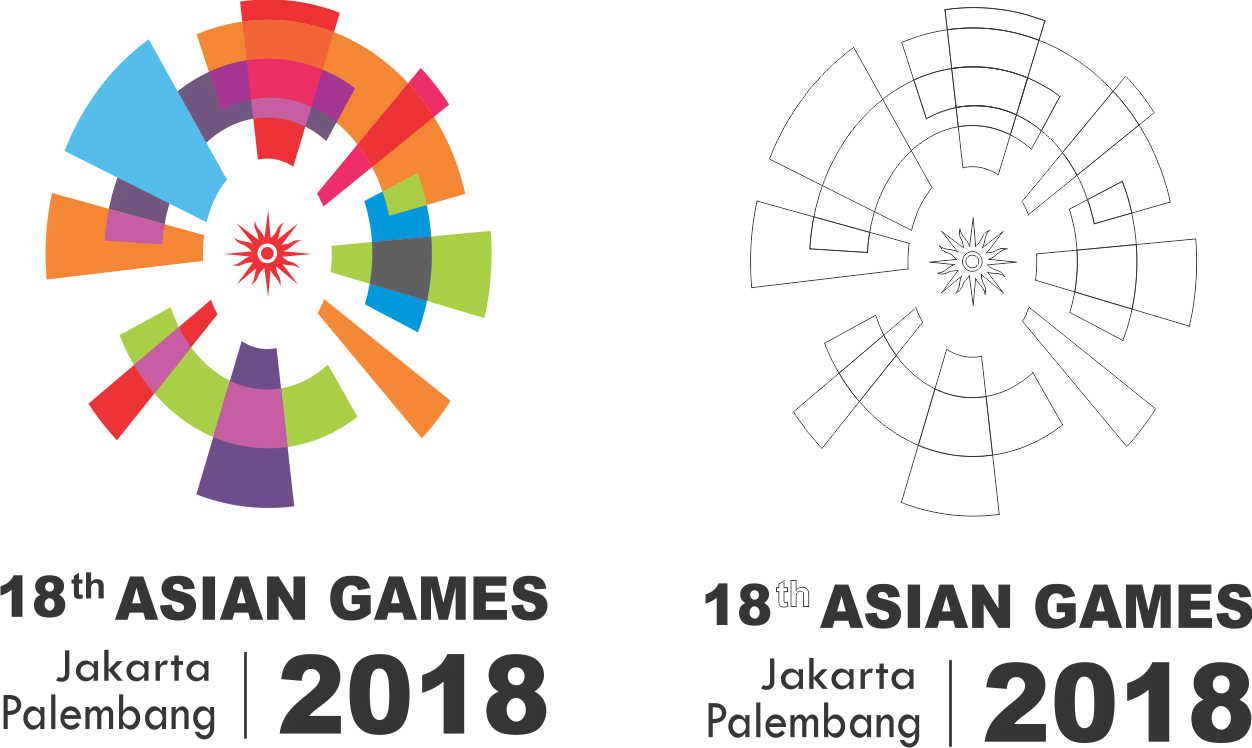 Asian%2BGames%2B2018%2BLogo - Asian Games 2018 Vector
