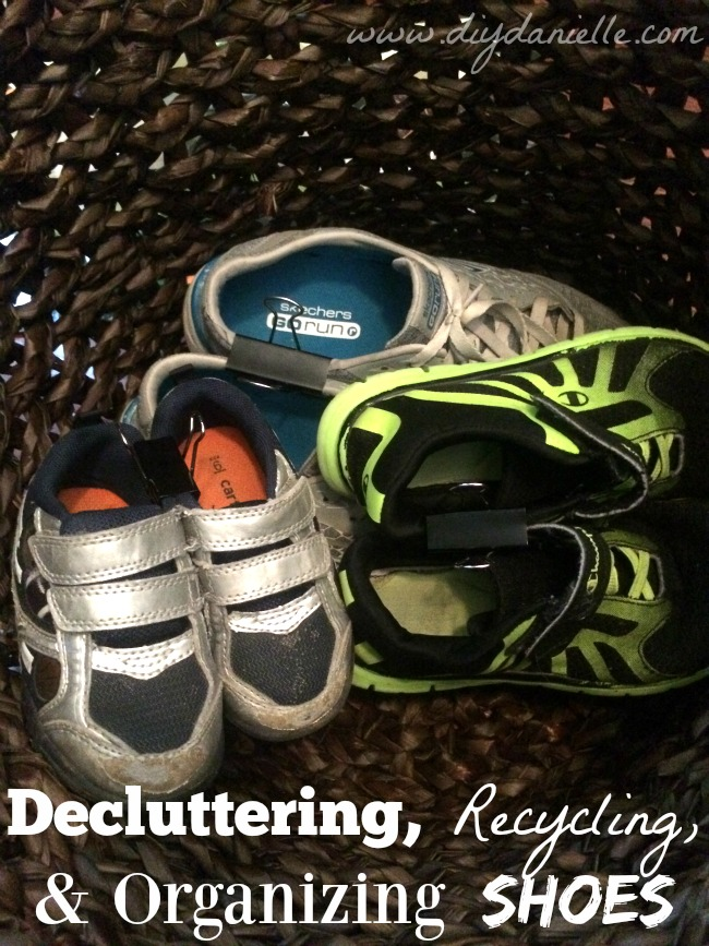 Decluttering, Recycling, and Organizing Shoes