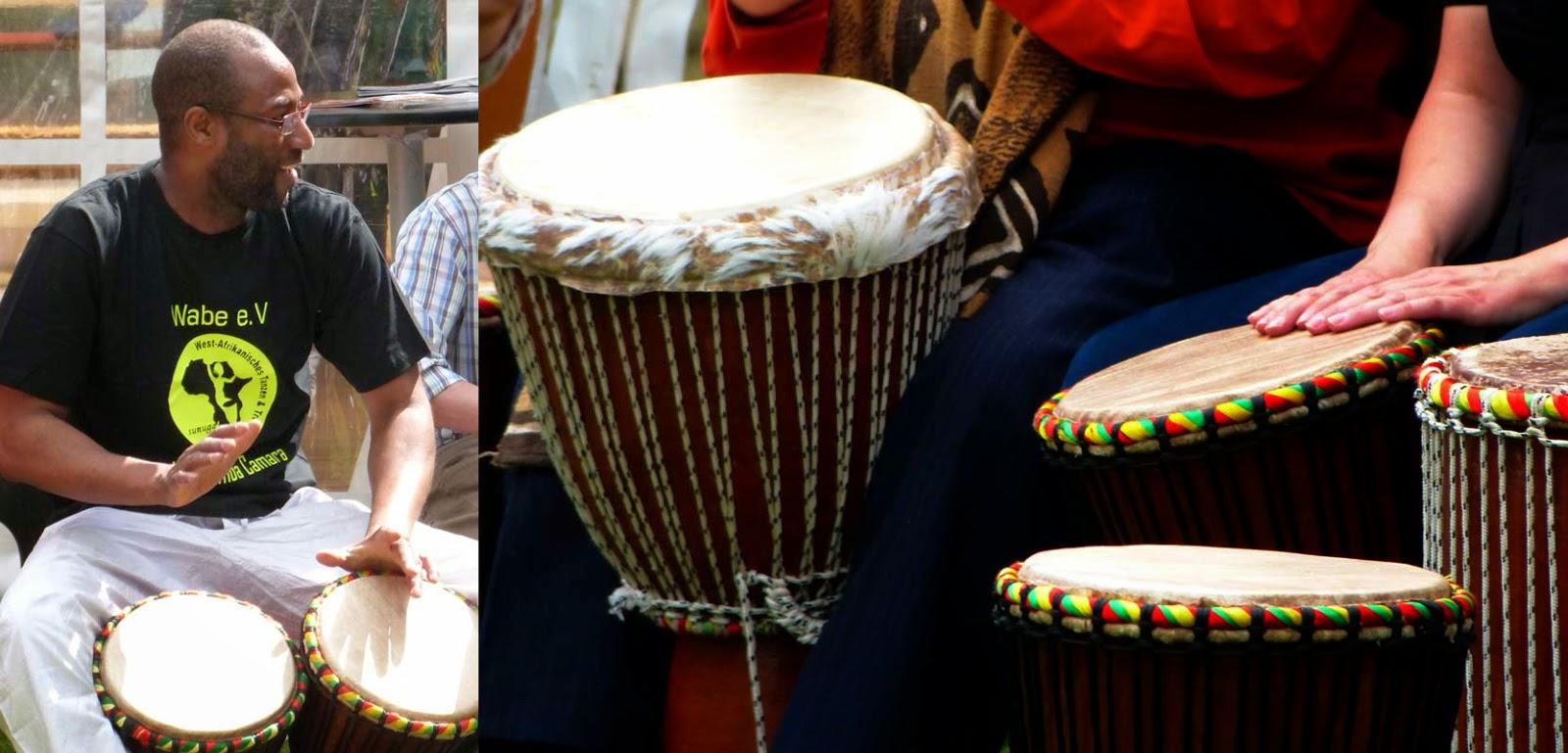 Samba Camara mit seinen Afrikanischen Trommeln