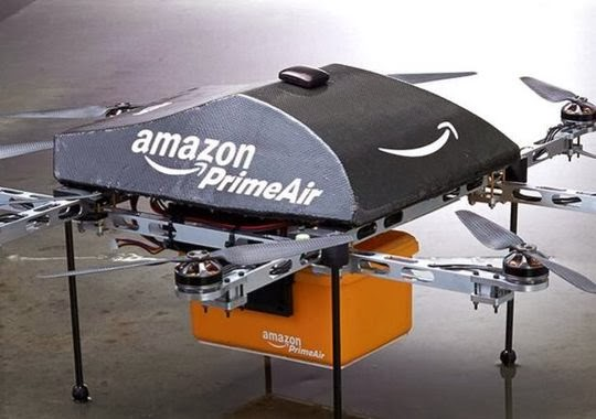 "Jeff Bezos says that the delivery of its products will be available in a half hour by drones "" Amazon Prime Air "" by 4 or 5 years."
