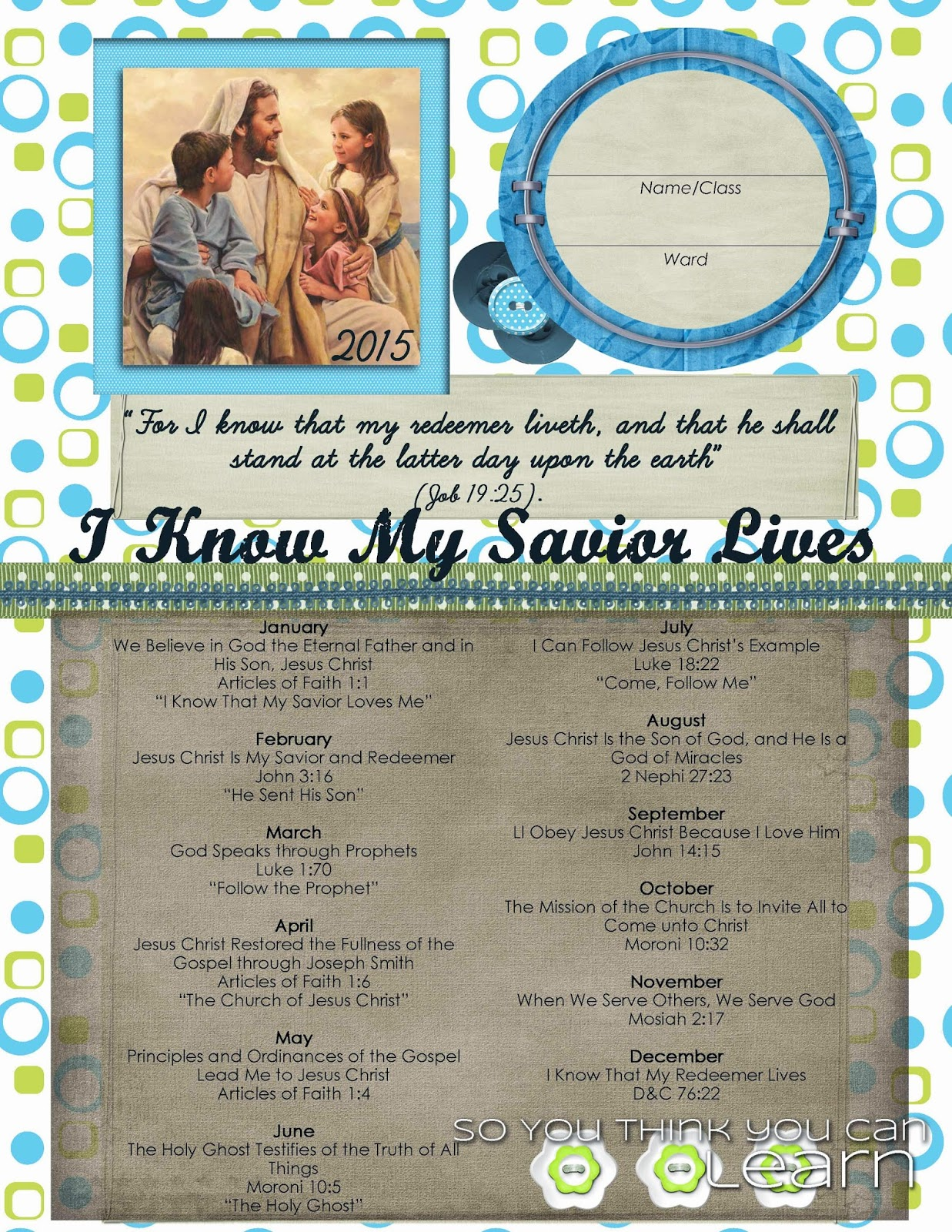 Search Results For Printable Binder Covers Lds Primary