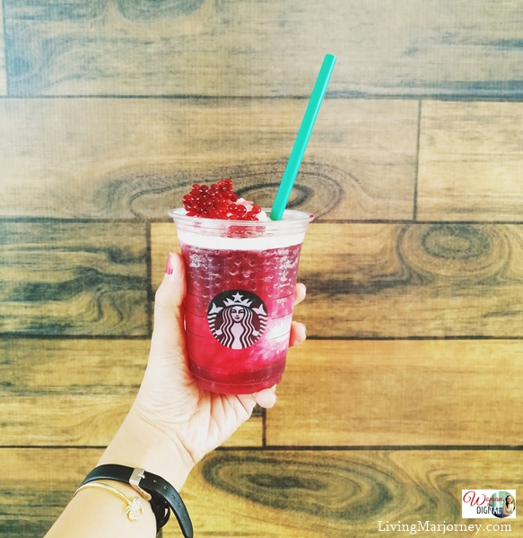 Frozen Hibiscus Tea with Pomegranate pearls