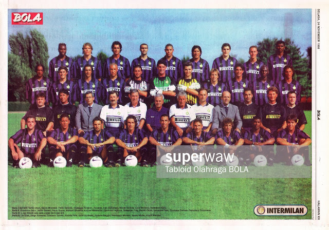 INTER MILAN 1998 FULL TEAM SQUAD