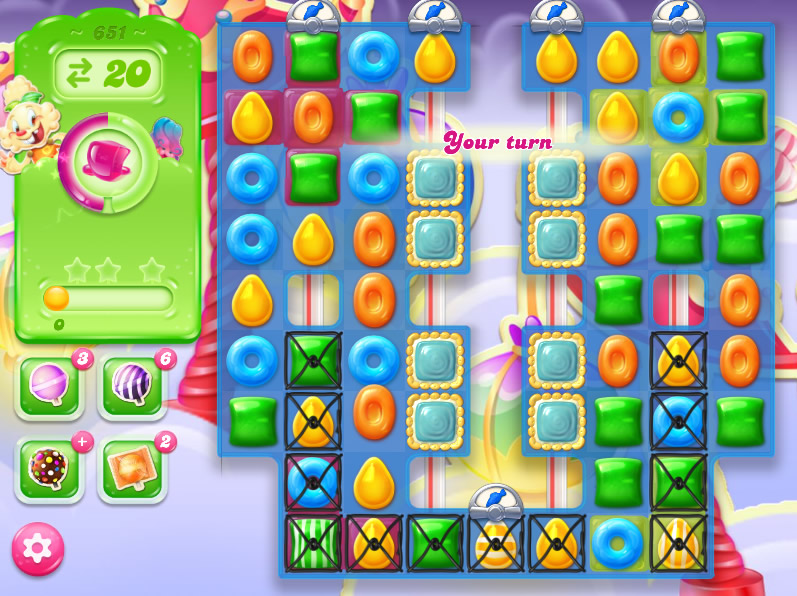 Candy Crush Jelly Saga level 651