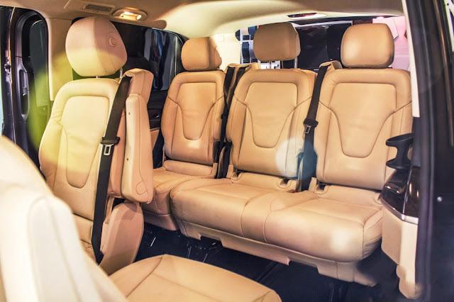 Mercedes V220 d AVANTGARDE thiết kế hàng ghế sau rộng rãi