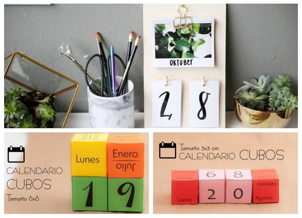 calendarios perpetuos,manualidades, calendarios para siempre