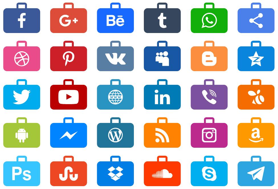 Download Font Social Media Series Color