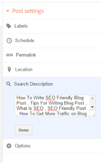 How to Set Label and Related KeyWords in Blog