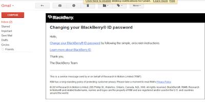 Cara Reset Password Akun Blackberry