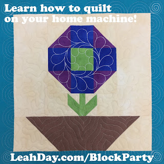 Machine Quilting Block Party | Learn to Quilt in 2017