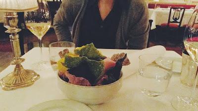 Cialde di verdure al Del Cambio di Torino