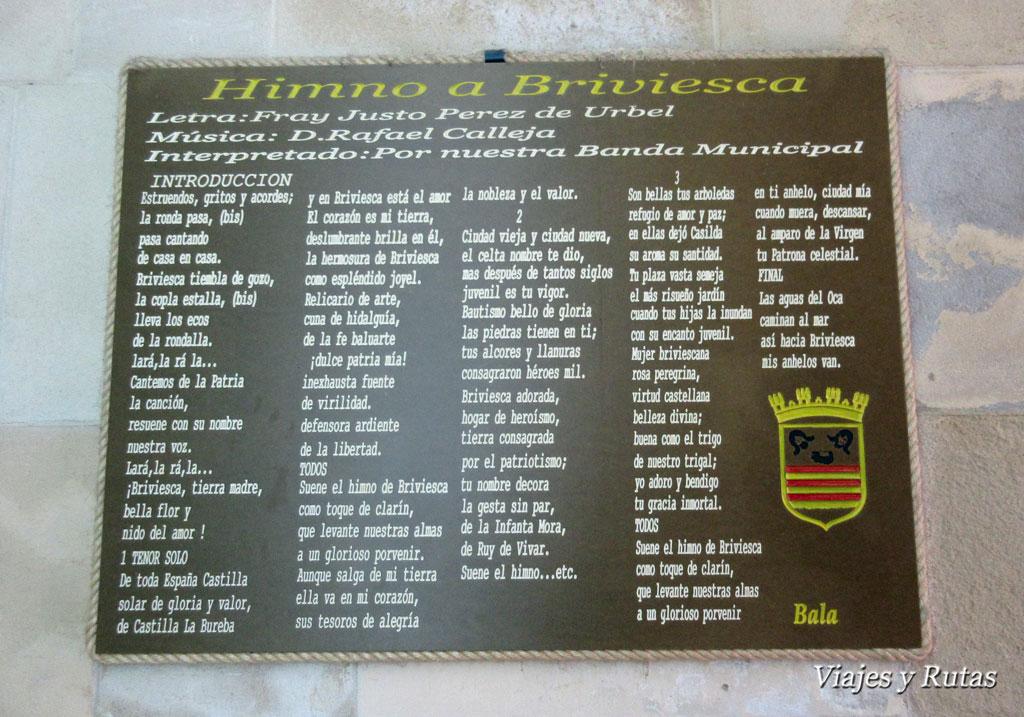 Que ver en Briviesca: el himno