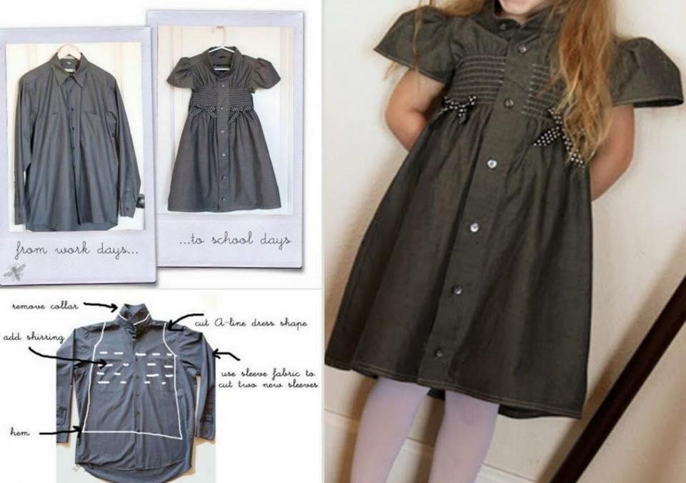 Diy Dress Comel Dari Baju Kemeja Lama