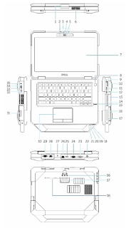 Dell Latitude 14 Rugged 5404 series user guide PDF download (English)