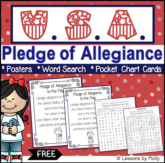 https://www.teacherspayteachers.com/Product/Pledge-of-Allegiance-2960308