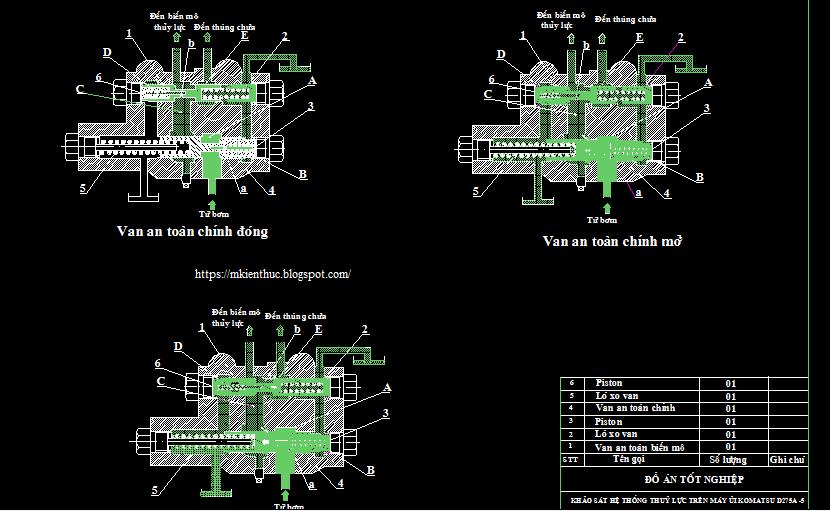 Bản vẽ hệ thống thuỷ lực trên máy ủi KOMATSU D275A-5