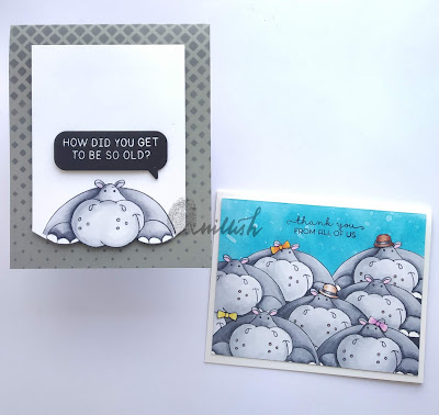 Craftyscrappers Peek a boo stamp set, Craftangles, Copic markers, distress oxide ink, masking, CAS card, Birthday card, Thank you card, Quillish,