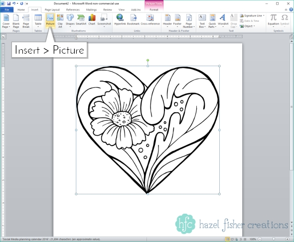 Opening Digital Stamp in Microsoft Word - Printables Basics, File Types and Programs to Use - Hazel Fisher Creations