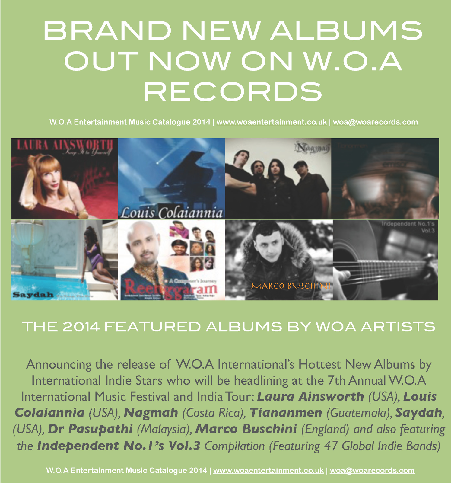 WOA Records New Releases 2014