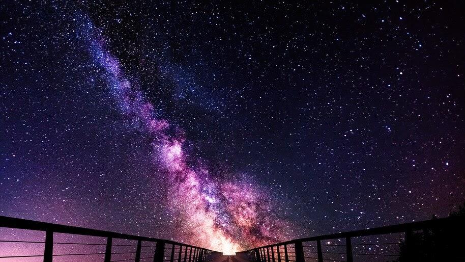 Starry Night Sky Scenery 4k Wallpaper 6 443