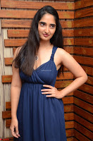 Radhika Mehrotra in a Deep neck Sleeveless Blue Dress at Mirchi Music Awards South 2017 ~  Exclusive Celebrities Galleries 059.jpg